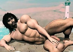 3D Fantasize Boys increased by Muscled..
