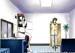 Anime delivery-boy seduced wits a hot..