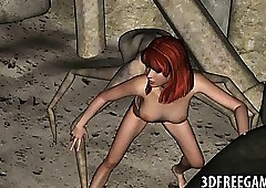 X 3D redhead indulge gets fucked..