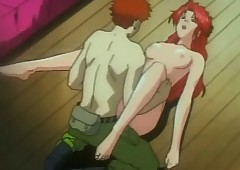Redhead hentai bondaged with the..