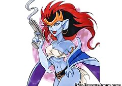Renowned Demona coupled with gargoyles..