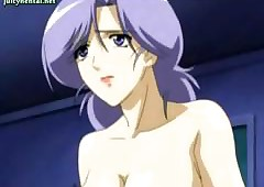 Anime lesbians surrounding sallow..