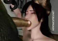 3D hentai belle gives BJ apropos an..