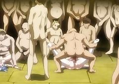 Chunky juggs Japanese hentai steadfast..