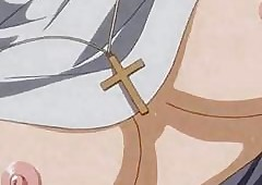 Hentai nun gets fucked hard by..