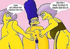 Simpsons porn caricature