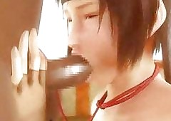 Roped 3D Japanese anime oralsex..
