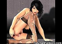 3D Futanari coupled with Shemale..