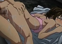 Lascive hentai gets pussy pounded