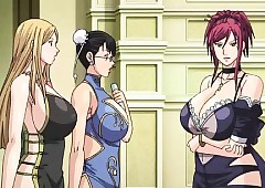 Bigboobs anime maids gangbang apart from the brush brass hat