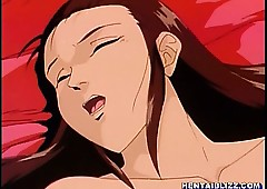 Bosomy anime unending fucked at the..