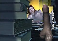 Oversexed 3D anime streetwalker..