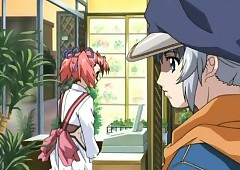 Japanese anime chap gets handjob