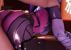 Overwatch - Widowmaker blowjob coupled..