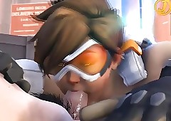 Overwatch - Tracer gets kinky! (3D on..
