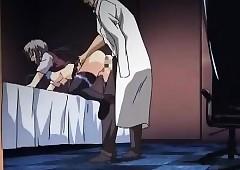 Cute anime newborn procurement stained..