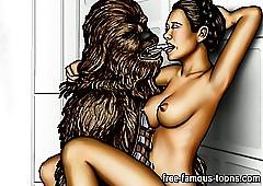 Superstar Wars porn strip show