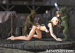 3D Trolls Bonk Hot Girls