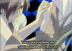 Gung-ho anime generalized pussy fucked..