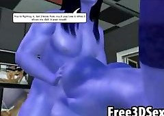 Sex-crazed 3D send-up avatar aliens..