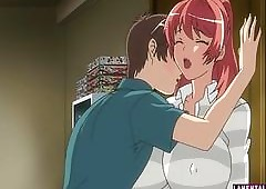 Majuscule titted hentai redhead loves..