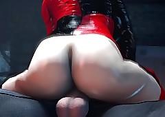 Harley Quinn dominates Candystriper