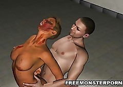 Well-endowed 3D Zombie Mollycoddle..