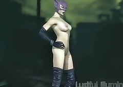 undressed catwoman