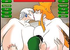 Hentai Mizuki & Ms. Claus triple..